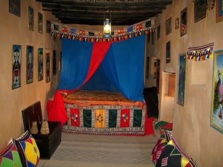 Schlafzimmer im Fort Taqah