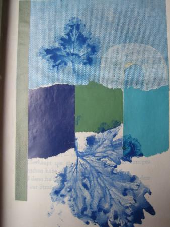 Blaue Natur (Collage)
