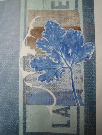 Blaues Blatt (Collage)
