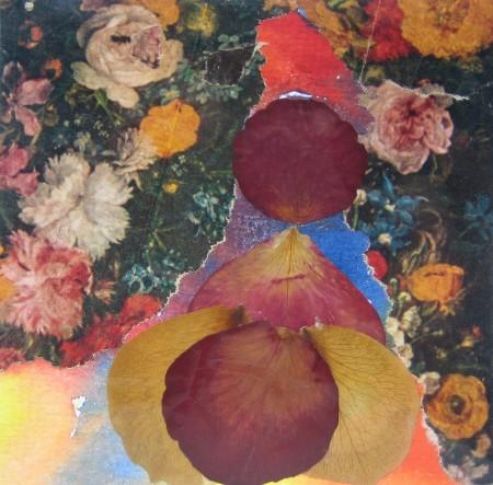 Rosenblättercollage