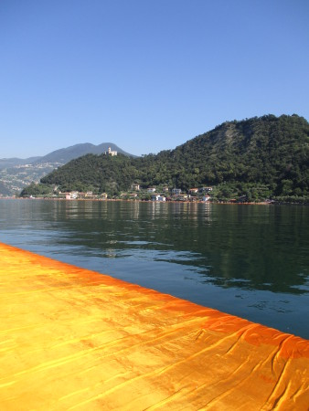 The Floating Piers am Iseosee, Italien Juni 2016