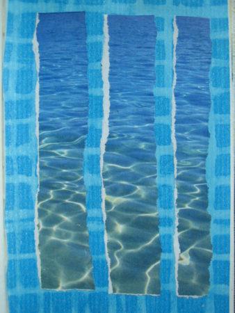 Glitzern auf dem Wasser, Collage